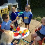 Nursery - Outside Tea party
