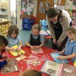 Reception - Making clay teddies