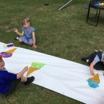 Outside - painting ice-creams